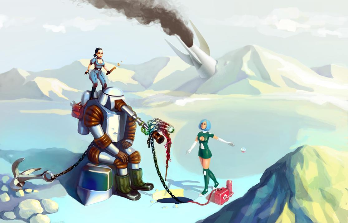 Extreme Fishing: Mercenaries (2013) by ironwool