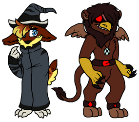 Griffyth and tiga (DELTARUNE AU) by silvervEXin