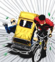 Vis and Kid Pedicab Color by pfab