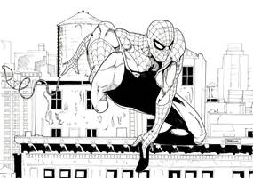 SPIDEY IN NYC INKED by pfab