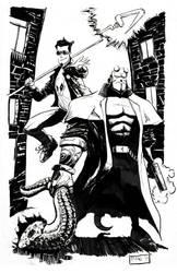Starman Hellboy Commission by pfab