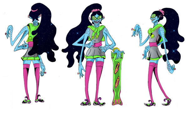 Preppy Space Girl Character