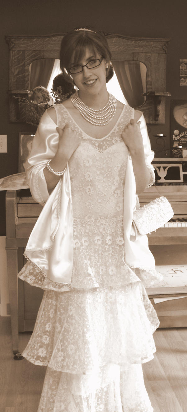 1928 Homemade prom dress by Kiss-me-on-the-hand on DeviantArt