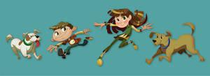 Cartoon Designs 05 by poojipoo