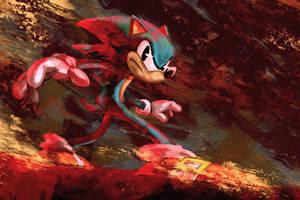 Sonic Fanart by poojipoo