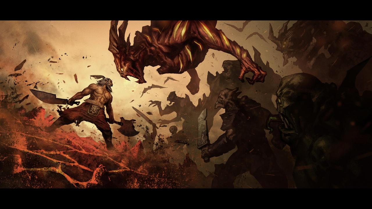 intimidating shout Diablo 3: intimidating shout by ~poojipoo fan art / digital art / painting & airbrushing / games.