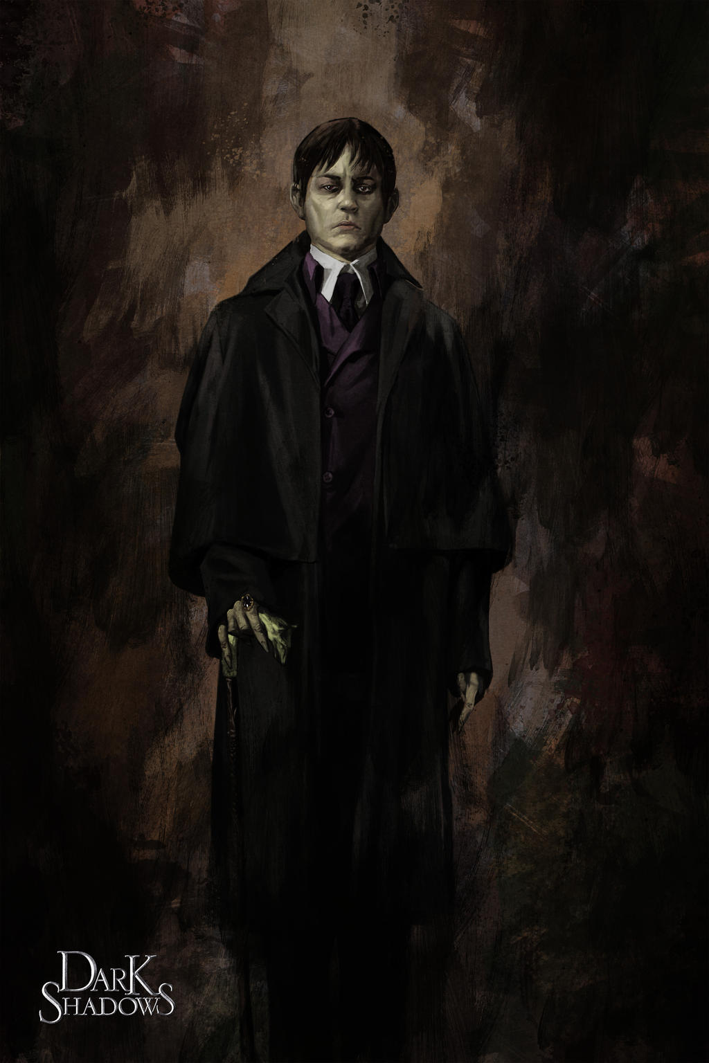 Dark Shadows: Barnabas Portrait by poojipoo