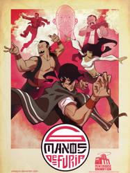 6 Manos de Furia: Poster art by poojipoo