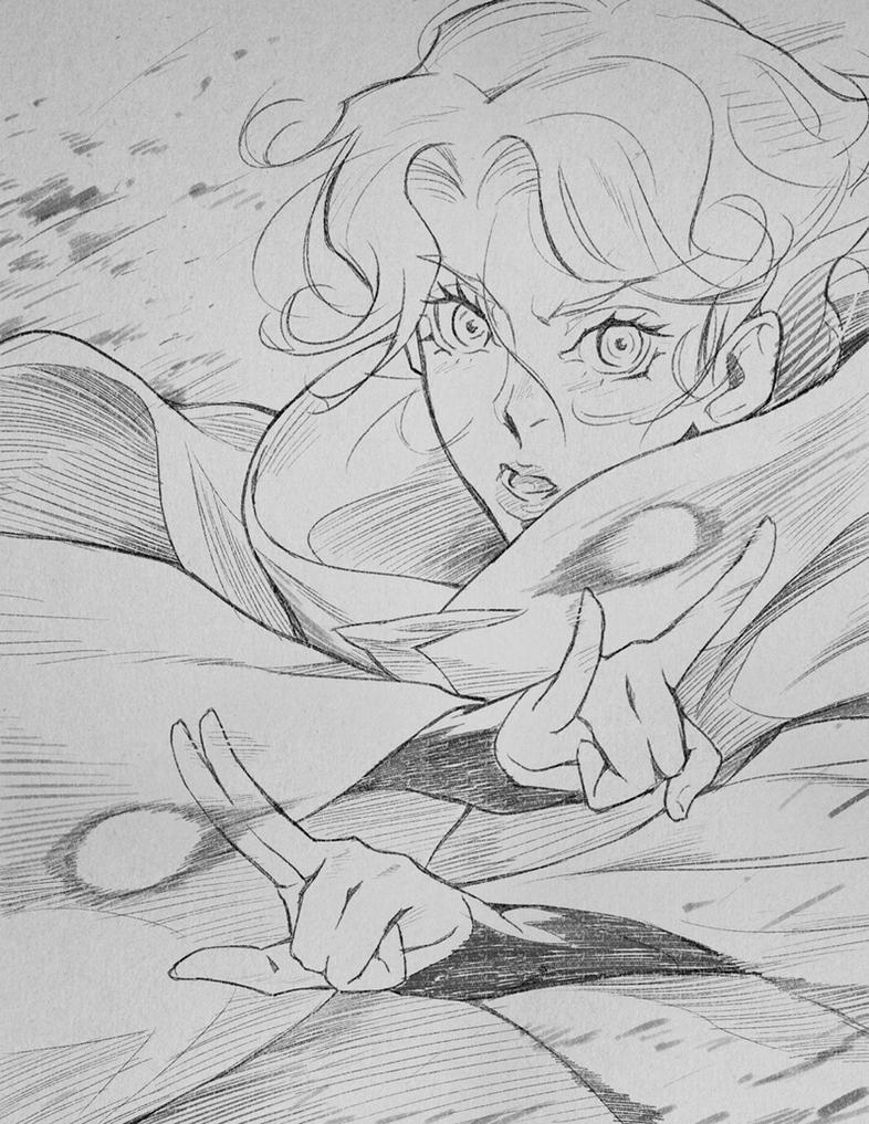 Castlevania Sypha Sketch 01 by poojipoo