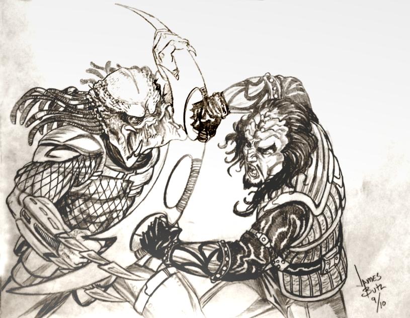 Predator Vs. Klingon by Jimmy-B-Deviant