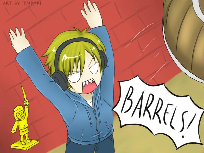 Pewdiepie: BARRELS! by TaiyakiDesu