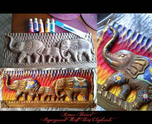 Thrift Store Treasure: Repurposed Elephants by Foxfires