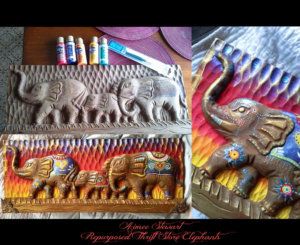 Thrift Store Treasure: Repurposed Elephants by Foxfires