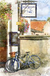 The Blue Bicycle, York by Foxfires