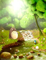 A moment in Totoro's life by Syntetyc