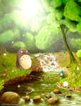 A moment in Totoro's life