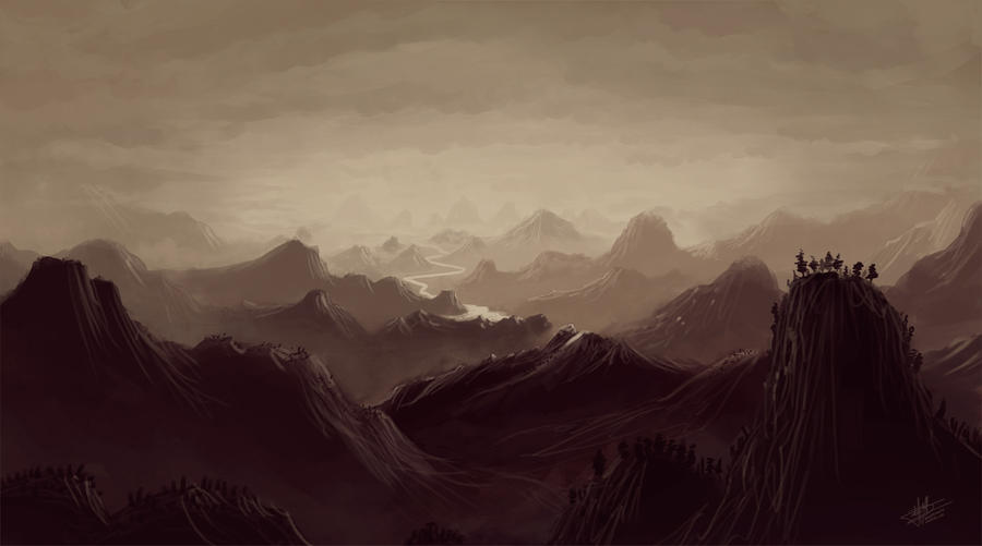 Mountains mist by Syntetyc