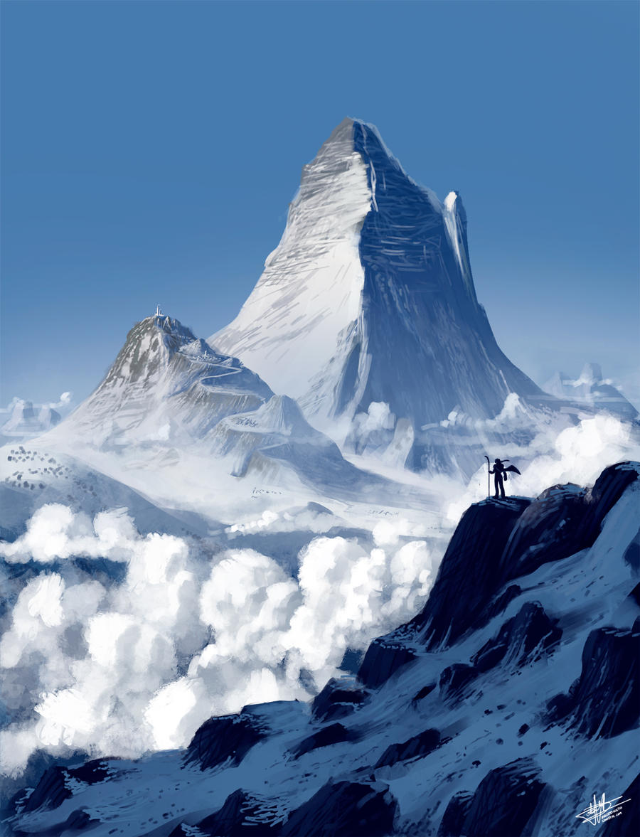 Snow mountains by Syntetyc on DeviantArt