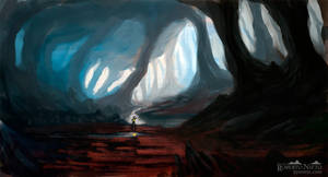 Cave river - Speedpaint by Syntetyc