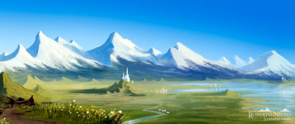 Valley Castle - speedpaint by Syntetyc