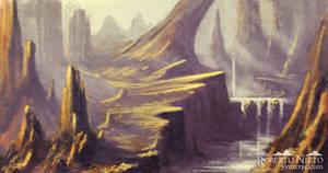 Mystic Cliffs - speedpaint by Syntetyc