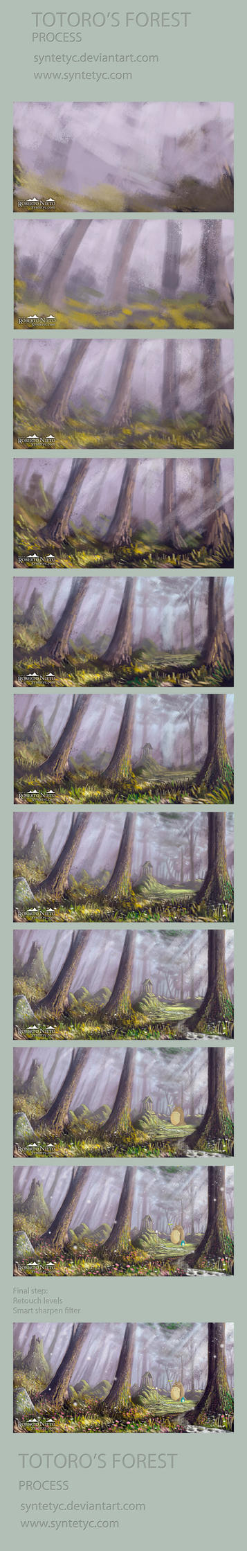 Totoro's Forest - Process by Syntetyc