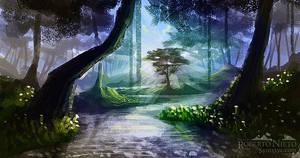 Sunshine Forest - Speedpaint by Syntetyc