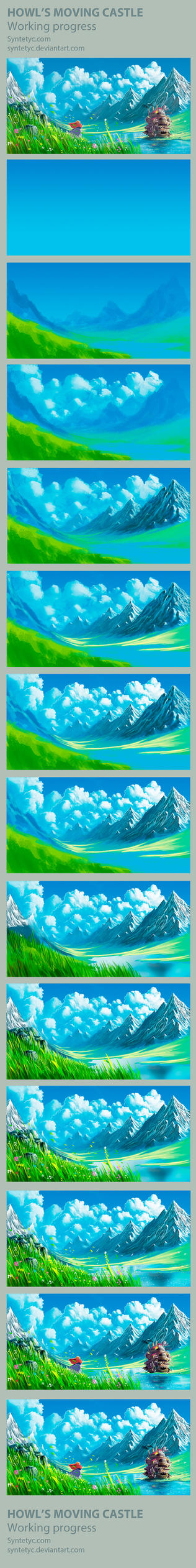 Howl's Moving Castle - Process by Syntetyc