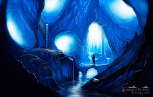 Ice cave - speedpaint by Syntetyc
