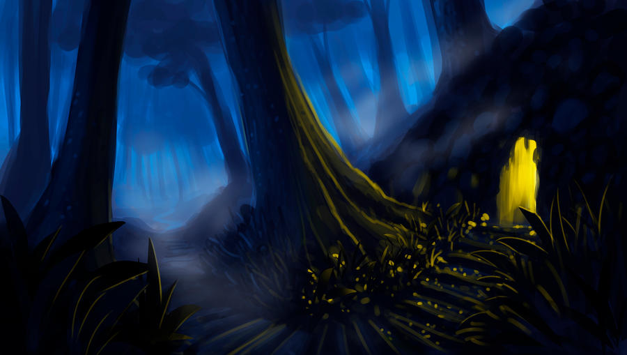Part1 - Light Cavern, Speedpaint process by Syntetyc