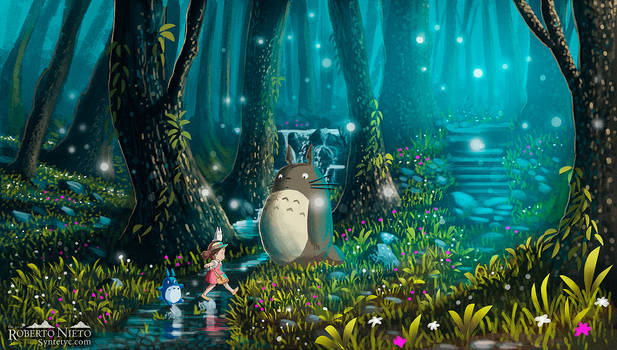 Totoro and Mei - Excursion