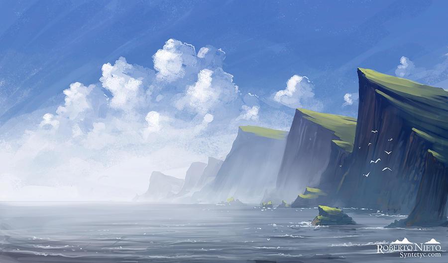 Cliffs by Syntetyc