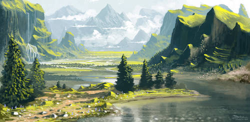 Grey river by Syntetyc