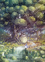 Totoro's Paradise by Syntetyc