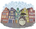 My neighbor Amsterdam (Totoro fan art)