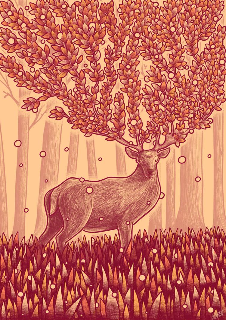 Deer tree by Syntetyc