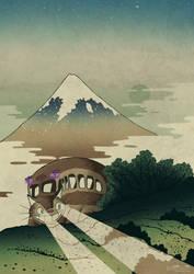 Catbus and Mount Fuji