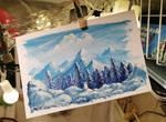 Chibi Winter - Gouache painting