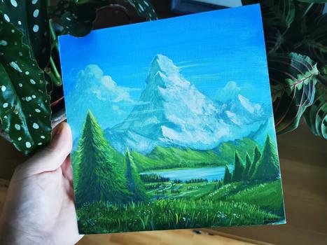 The Mountain - Gouache painting