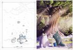 FREE - Printable Snow Totoro Christmas card!