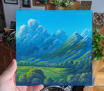 Storm and valley - Acrylic landscape painting