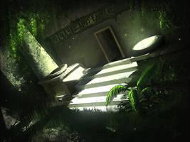 temple ruins by freelancerart