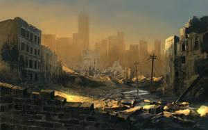 city of ruins by freelancerart