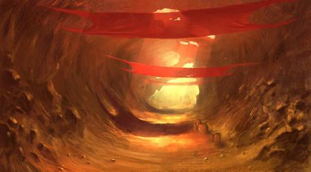 desert cave by freelancerart