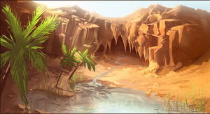 oasis by freelancerart