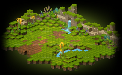 Cubic Jungle by freelancerart