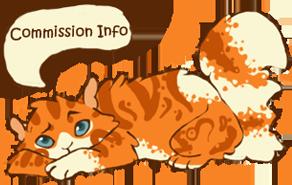 Commission Info button by ClimbToTheStars