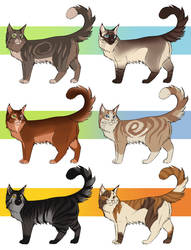 cat adoptables closed by ClimbToTheStars