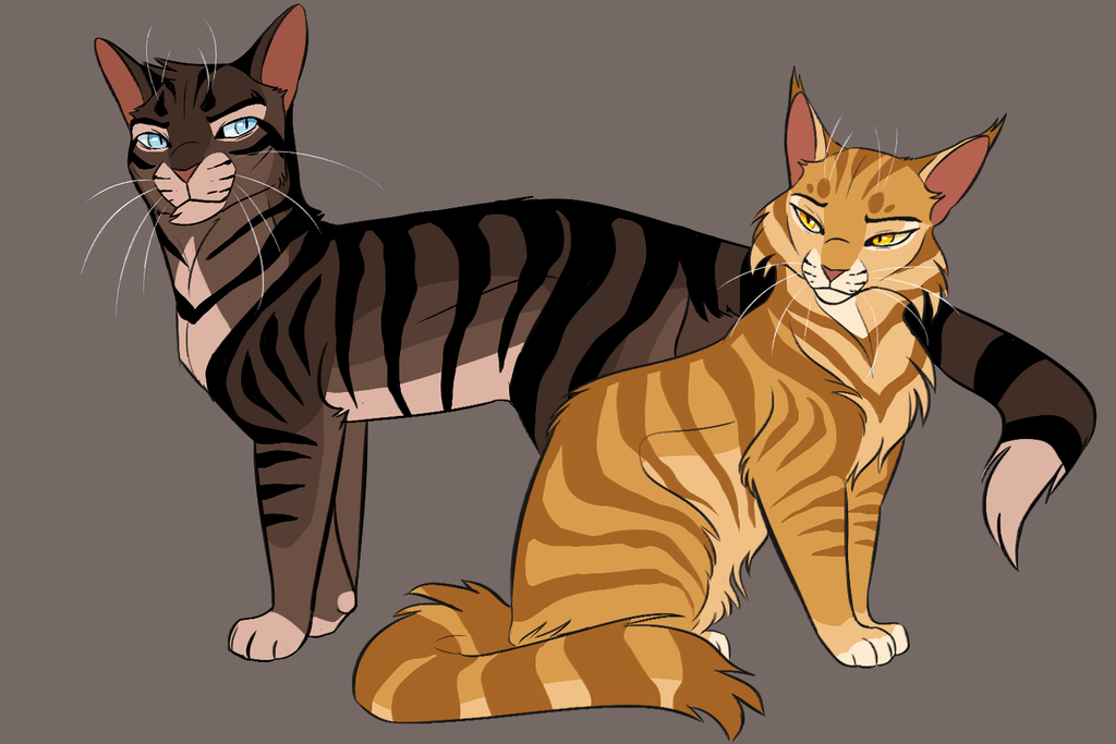 Warrior Cats Firestar And Bluestar And Grey Strip