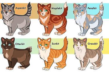warrior cat kit adoptables closed